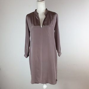 Amanda Uprichard Silk Dress Mauve Sz P